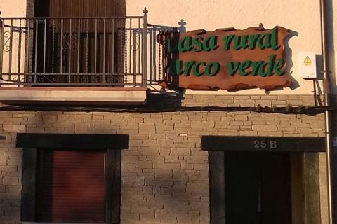 Fachada de la Casa del Arco Verde